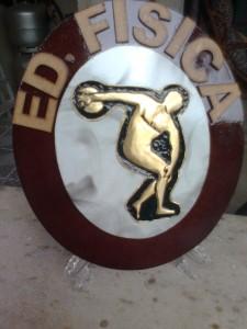 EDUCAÇÃO FÍSICA - Placa decorativa
