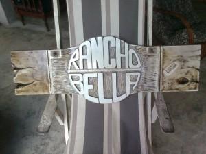 RANCHO BELA - Placa decorativa
