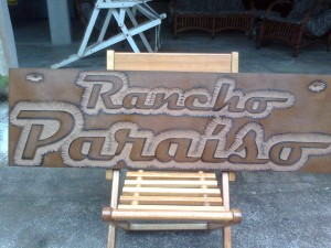 RANCHO PARAISO - Placa decorativa